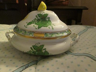 Herend Gree  Chinese Bouquet Miniature Tureen with Lemon Finial,