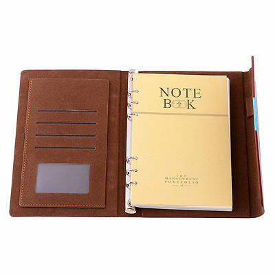Red A5 Pocket Conference Folder Organiser Planner Leather Cover Diary