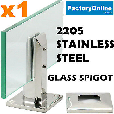 2205 Heavy Duty Stainless Steel Glass Spigots Frameless Glass Pool Fencing Clamp
