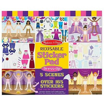 Melissa and Doug Reusable Sticker Pad - Dress-Up