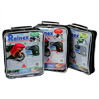 Oxford Rainex Deluxe Outdoor Motorcycle Waterproof Rain & Dust Cover - Large