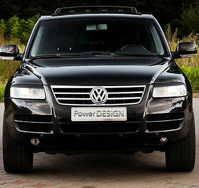Eyebrows for VW TOUAREG 2002-2006  headlight eyelids lids ABS Plastic