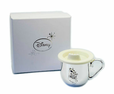 Personalised Disney Winnie The Pooh Silver Plated Baby Cup Beaker, Engraved Gift