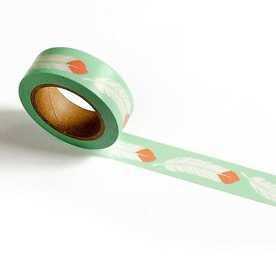 Washi Tape Feather By Smarty Pants Paper Co 15Mm Wide X 10Mtr Roll Craft Plan