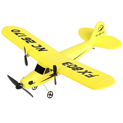 RC Helicopter 2CH 2.4G Aircraft Glider Airplane Kid Toys with Transmitter Yellow