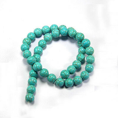 New Blue Turquoise Gemstone Round Loose Bead Beads Strand 6mm 8mm 10mm 12mm