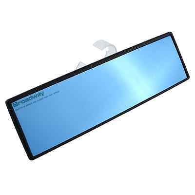 Universal 270mm Car Interior Blue Convex Face Wide Rear View Mirror Clip On