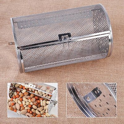 Rotisserie Grill Roaster Drum Oven Basket Baking Coffee Beans Peanut BBQ 14*23cm