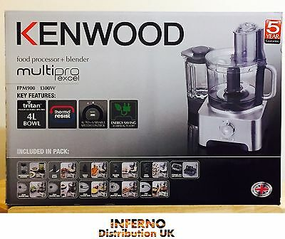 KENWOOD FPM260 Multipro Food Processor Silver 750W 2.1L Pulse Function BRAND NEW