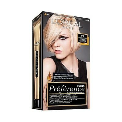 L'Oreal Feria Preference Permanent Hair Color # iridescent Blonde 92