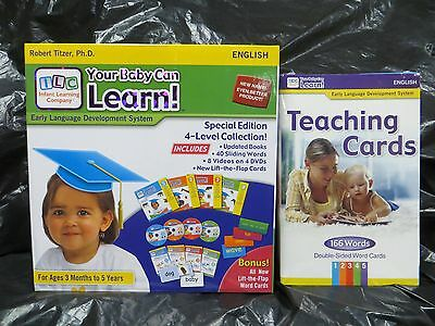 Your My Baby Can Learn / Read Vol 1-4 DVD, EXTRA Addt'l TEACHING CARDS ~ NEW