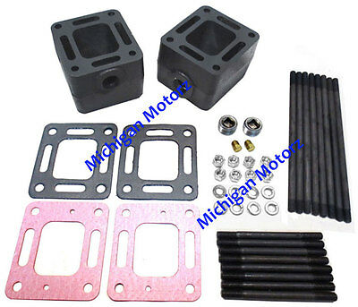 "MerCruiser 5.7L Manifold-to-Riser 3"" Spacer Blocks - 93320, 20-93320A3"