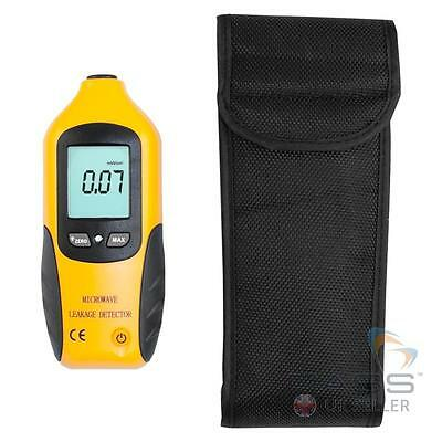 *NEW* Microwave Leakage Detector Tester LED/Audible Warning + 3 x Labels & Carry