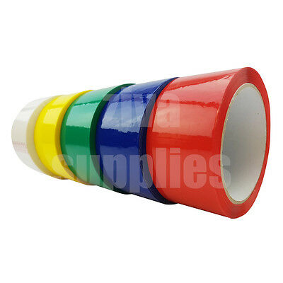 COLOURED TAPE Rolls (All Colours) (50mm x 66m)Low Noise Adhesive Packing Parcel