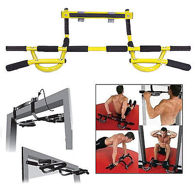 Door Gym Bar Chin Pull Push Up Situp Dips Fitness Strength Exercise Workout Rod