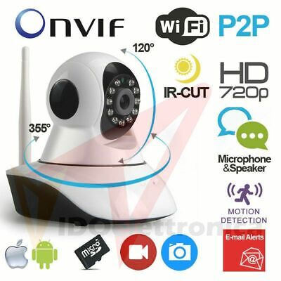 Telecamera Ip Camera Hd 720P Wireless Led Ir Lan Motorizzata Wifi Rete