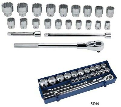 "Williams 33915 23 Piece 3/4"" Drive METRIC Socket & Drive Tool Only Set"