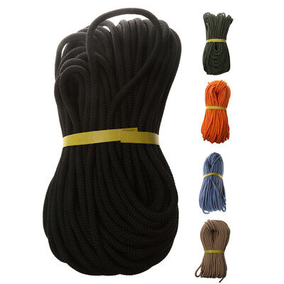 Black 40 METERS Static Auxiliary Rope For Tree Rigging Rock Climbing Rappel