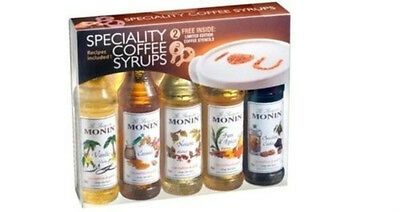 Monin Flavoured Coffee Syrups Gift Set 5 pack - Perfect Gift For Any Occassion