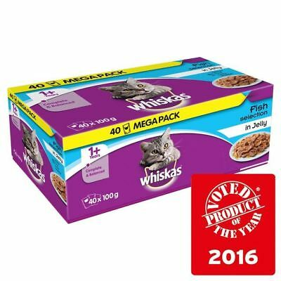 Whiskas 1+ Cat Pouches Fish in Jelly 40 x 100g
