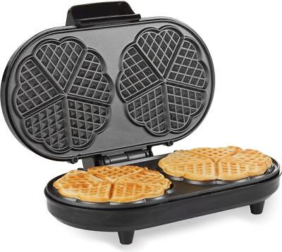 Andrew James 2 Slice Waffle Maker Iron Machine in Stainless Steel 1200 Watts