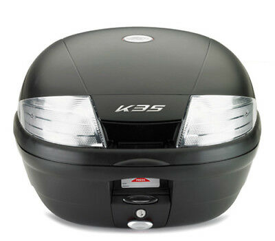 Kappa 35 Litre Black Motorcycle Scooter Top Box Case & Universal Fitting Plate