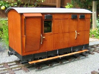 Rheidol Railway Matchboard Guards Van Kit IP engineering,SM32 16mm Garden