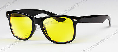 New Yellow Lens Driving Night Vision Glasses Sunglasses UV400