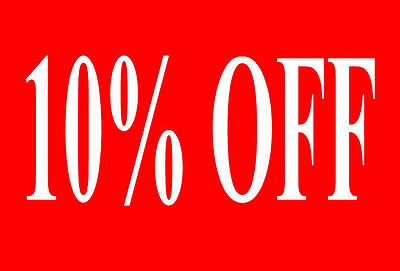 10% Off Sale Rail Double Sided Sign Card Retail Shop Display - High Quality