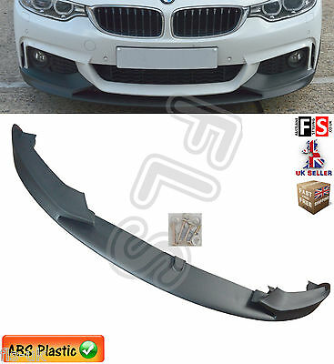 Bmw 4 Series F32 F33 F36 Front Diffuser Splitter Valance Lip Spoiler Side Skirts