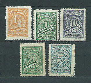 Colombia - Correo 1920 Yvert 227/31A * Mh