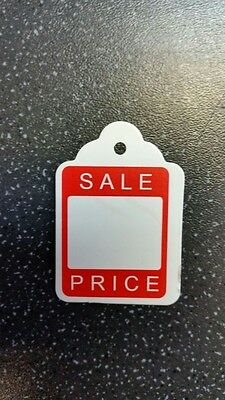 100 x 46mm x 30mm Sale UnStrung Kraft Tags Swing Price Tickets Jewellery Labels