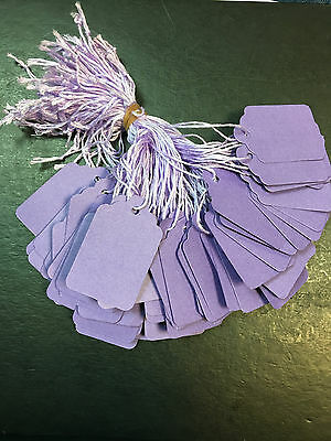1000 x 42mm x 27mm Purple Strung String Tags Swing Price Tickets Tie On Labels