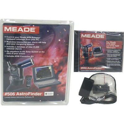 Meade #506 Astrofinder Limited Edition Astronomy Software with Cable Kit