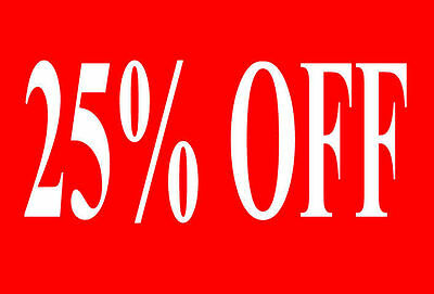 25% Off Sale Rail Double Sided Sign Card Retail Shop Display - High Quality