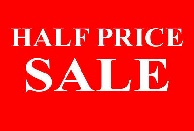 Half Price Sale Rail Double Sided Sign Card Retail Shop Display - High Quality
