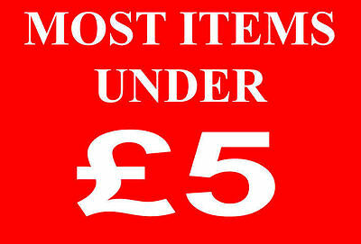 Most Items Under £5 Pounds Sale Sign Rail Card Retail Shop Display -High Quality