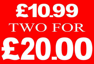 £10.99 Two For £20 Pound Sale Rail Sign Card Retail Shop Display-High Quality
