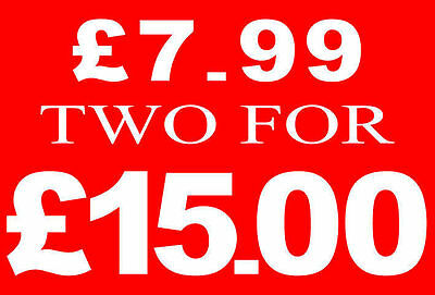 £7.99 Two For £15 Pound Sale Rail Sign Card Retail Shop Display-High Quality