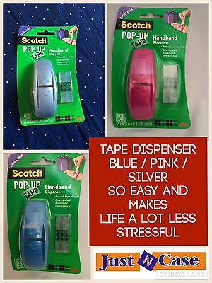 3M Scotch Pop Up Tape Dispenser / REFILL Strips / Gift Wrap Presents Parcel