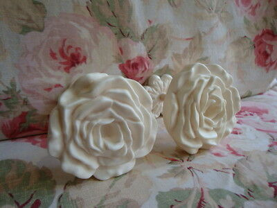 Shabby & Chic Large Rose Curtain Drapery Tie-Backs PAIR (Style #1)