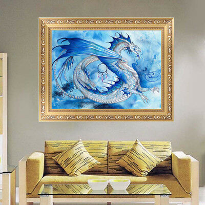 Dragon In The Sky 5D Diamond DIY Embroidery Painting Cross Stitch Kit Home Decor