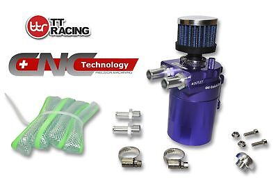 Purple-TTRacing Baffled Universal Aluminum Oil Catch Can Reservoir Tank Breather