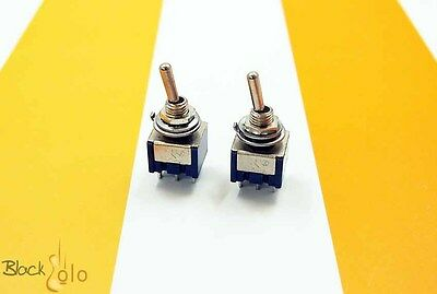 Two New DPDT On-On (Off) Mini Toggle Switch 6 Pin Guitar Pedal PC Electric DIY