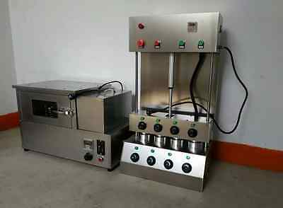 Commercial Pizza Cone Forming Making Maker Machine with Rotational Pizza Oven A