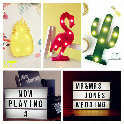 A4 Cinematic Flamingo Cactus Light Box Cinema LED Letter Thanksgiving Xmas Gift