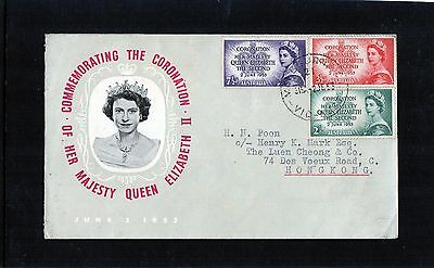 1953 Coronation Of Queen Elizabeth II Set Of 3 Addressed FDC,Very Good Condition