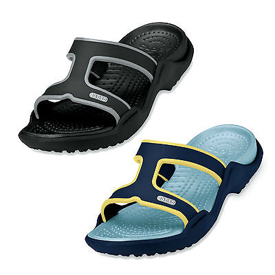6c42e859abf7 Ladies Crocs Summer Sandals Slip On Mules Casual Black Navy Shoes Florence