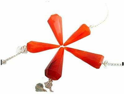Lot of 5 Carnelian Cone Shaped Pendulum Faceted Top Quality A++