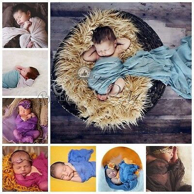 Newborn Baby Cheesecloth Cocoon Wrap Maternity Swaddle Photo Photography Prop